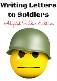 writing letters to soldiers adopted soldier edition writing