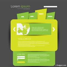 web design templates 4 designer green web design creative fashion template vector