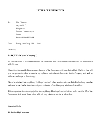immediate resignation letter samples of resignation letters for