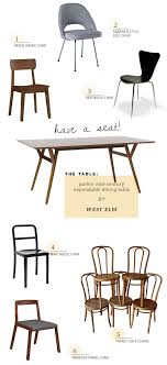 west elm expandable table pick a chair for the parker dining table my paradissi