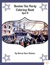 boston tea party coloring book level