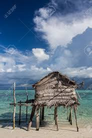 Beach Houses On Stilts by A Wooden House On Stilts By The Beach Stock Photo Picture And