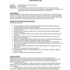 job description medical biller mind resume for job sample medical