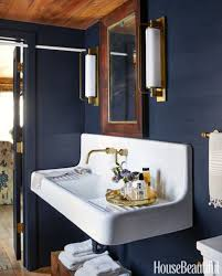 Navy And White Bathroom Ideas Bathroom Color Inspiring Blue Rectangle Vintage Wood Bathroom