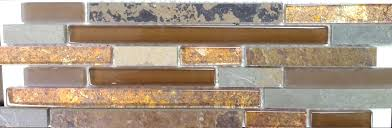 Rusty Brown Slate Mosaic Backsplash by Ct Foil Slate Amber Rust Linear Flooring Finesse