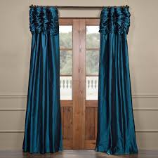 get mediterranean ruched faux solid taffeta curtains