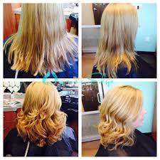 ladies short haircut and style organic edge salon