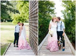 pink wedding dress on roanoke island with epic photos