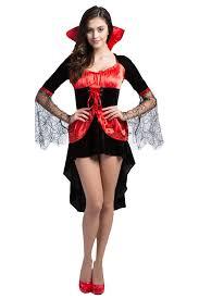 Girls Halloween Vampire Costume Girls Cosplay Gauze Sleeve Halloween Vampire Costume Red Pink Queen