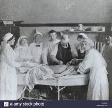 Ottoman Germany German And Turkish Nurses Assist A Surgery Of A Wounded Soldier In