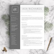 Creative Resume Templates Word Modern Resume Template For Word And Pages 1 3 Pages Cover