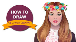 how to draw a flower crown i draw fashion youtube
