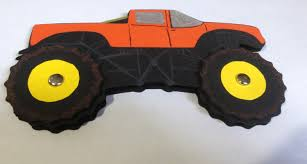 set of 10 paper monster truck craft kits for kids birthday party