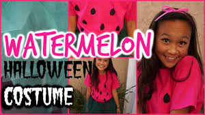 diy watermelon halloween costume idea hair makeup diy
