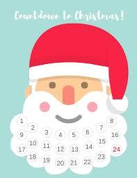 christmas calendar free printable santa beard advent calendar diy countdown to