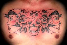 tattoos on chest for girls skull chest tattoos skull and chest tattoo skull tattoos chest men