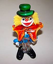 clown murano glass figurine click on the image for more
