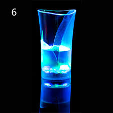 led flashing cool wine drink cups glowing water liquid activated