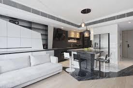 Living Room Design Photos Hong Kong Stark Contrast A Striking Black And White Hong Kong Home Post