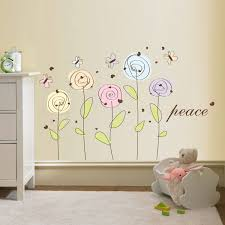 28 flower decals for walls harmony flower wall stickers flower wall decal peace flowers decal vinyl by walldecalsource