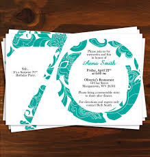 cool party invitations 70th birthday party invitations marialonghi com