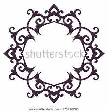 ornamental frame eastern style mood stock vector 375296293