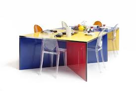 modular dining table and chairs modular and colorful dining table
