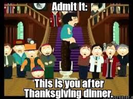thanksgiving sad but true