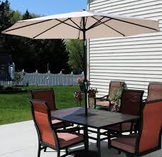 12 Foot Patio Umbrella by Amazon Com Sunnydaze Beige Aluminum 9 Foot Patio Umbrella With