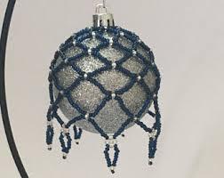 hand beaded christmas decoration beaded christmas ornament