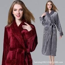 robe de chambre hiver longue peignoir pour femmes flanelle peignoir robe de chambre