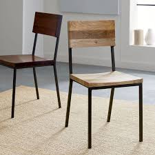 wood and metal dining table sets rustic dining chair west elm