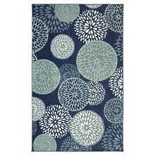 5 X 8 Area Rugs by Shop Mohawk Home Foliage Friends Blue Rectangular Indoor Tufted