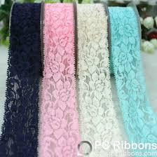 elastic ribbon wholesale cotton lace wholesale elastic lace ribbon pc ribbons trimmings co