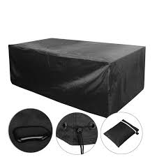 Waterproof Outdoor Patio Furniture Covers by Voilamart 170x94x71cm 6 Seater Black Outdoor Furniture Cover Patio
