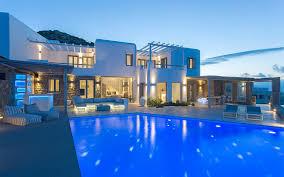 luxury villa bella for rent in kanalia on mykonos island greece