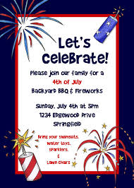 Family Day Invitation Card Bear River Photo Greetings 4th Of July Party Invitation