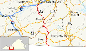 State Of Virginia Map by Virginia State Route 8 Wikipedia
