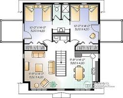 w2931 garage apartment plan 2 bedrooms with jack and jill bath