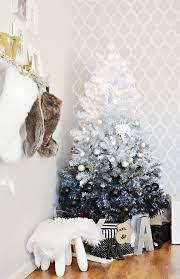 black christmas trees diy ombre christmas tree inspiration