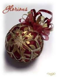 187 best ribbon ornament images on quilted ornaments