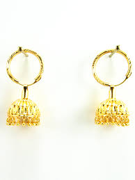 punjabi jhumka earrings golden jhumka earrings bijoux ear rings closure