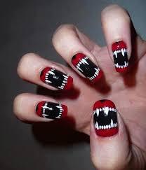 wolf teen nail art nails nail teeth pretty nails nail ideas nail