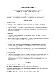Sample Objective On A Resume Example Skills Based Cv