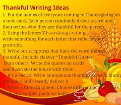 thanksgiving writing projectshere to help learning