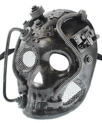 mens venetian mask redskytrader mens steunk robot skull venetian mask steunko