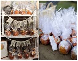 wedding ever after caramel apple wedding favors for a fall autumn