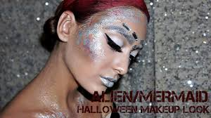 Halloween Makeup Mermaid Alien Mermaid Futuristic Halloween Makeup Look Youtube