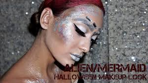 alien mermaid futuristic halloween makeup look youtube