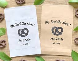 pretzel bags for favors pretzel wedding favor bag st we the knot st